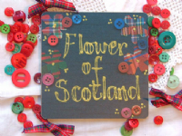 Adornment -Scottish Coaster - Flower of Scotland